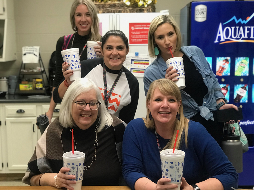 Teachers with sonic drinks