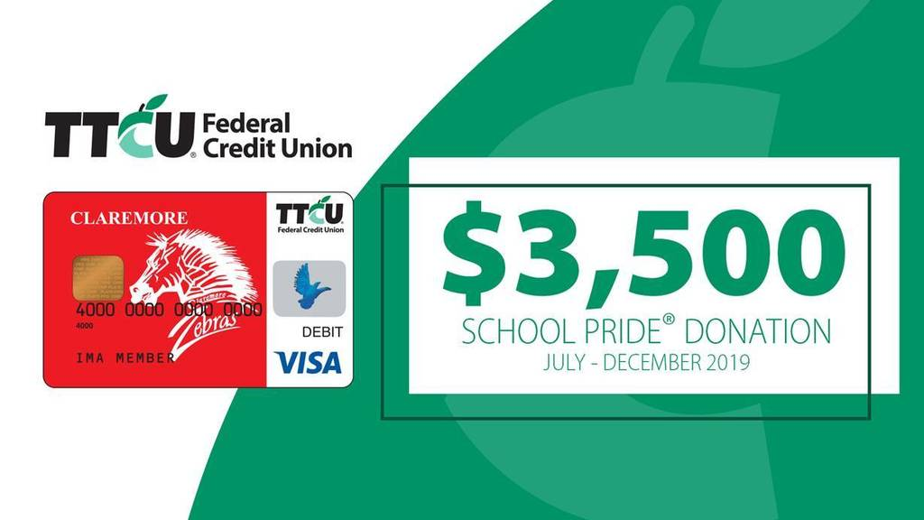 TTCU School Pride donation