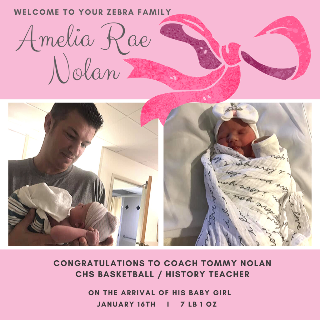 Welcome to our dazzle of little zebras Amelia Rae Nolan!