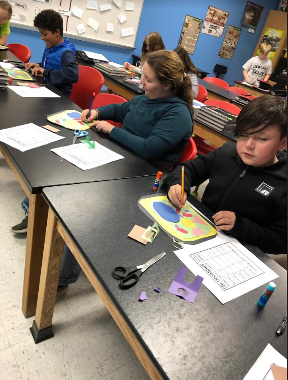 Mrs. Tietz's science classes are creating cell structures