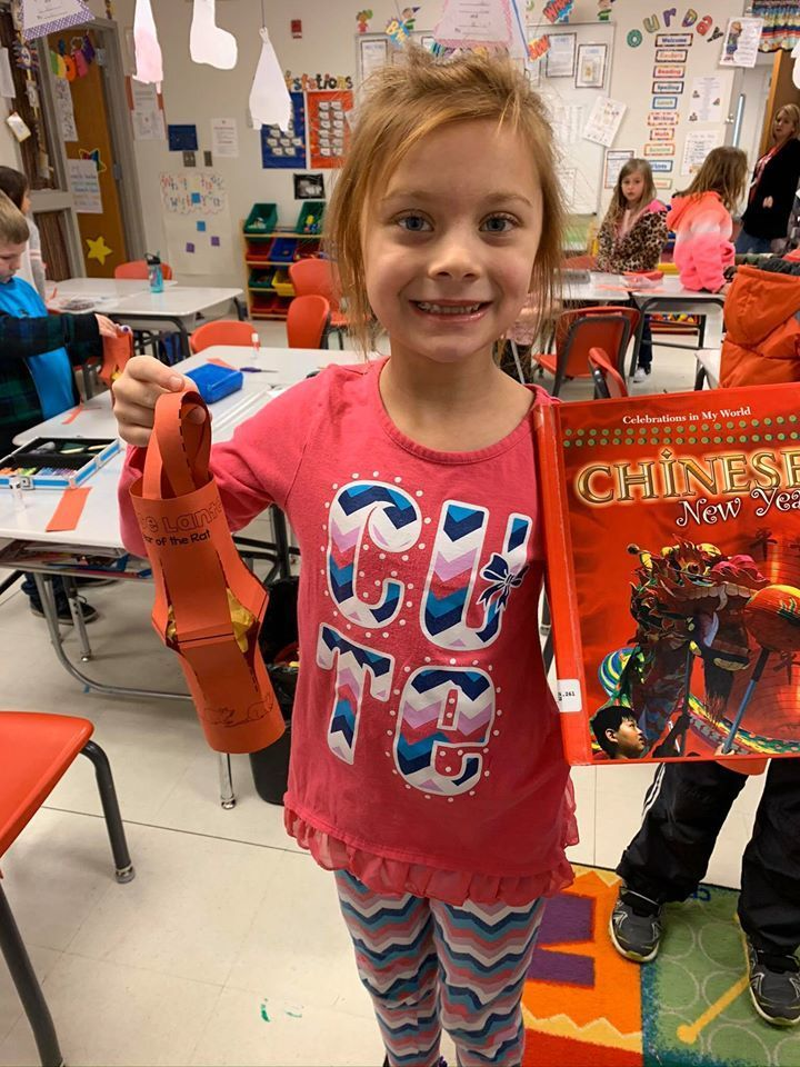 Mrs. Lewis' class at Catalayah learned about the Chinese New Year, which started Saturday.