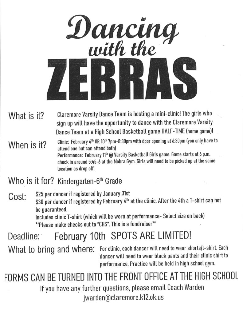 Dancing with the Zebras Mini Clinic details