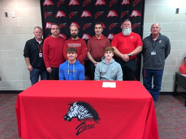 In conjunction with #nationalsigningday, two Claremore Zebras signed their official letter of intent to play football.