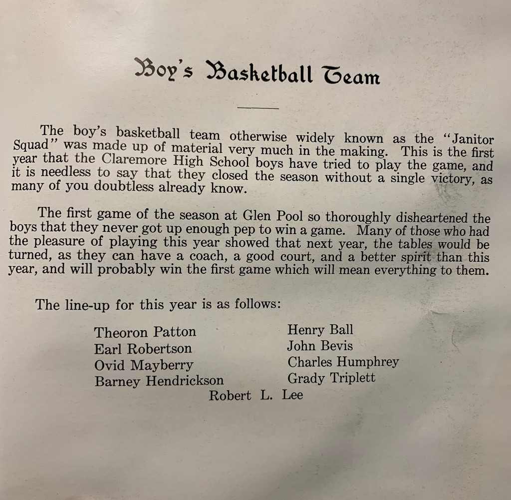 100 years of Claremore basketball