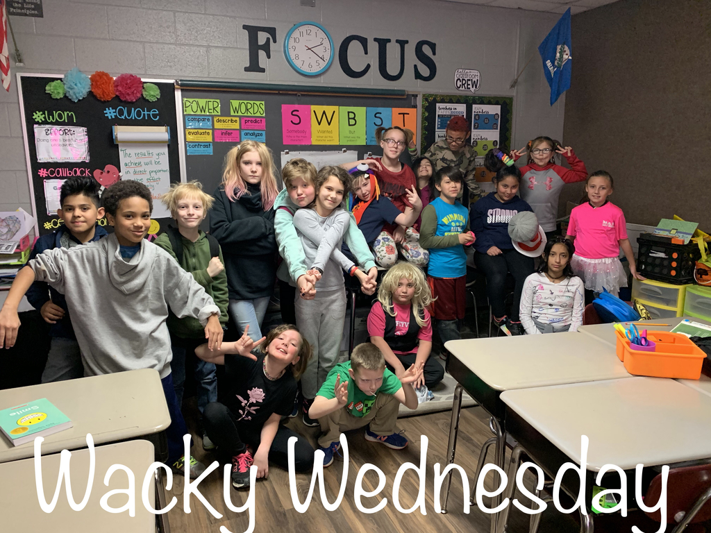 Students dressed for Wacky Wednesday