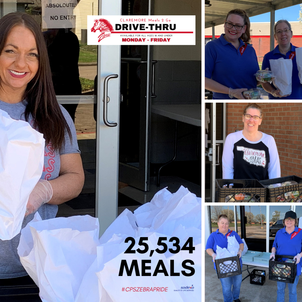 Since the COVID-19 shutdown, we have served 25,534 meals to our students. Encourage others to take a break and grab a Meal 2 Go this week.