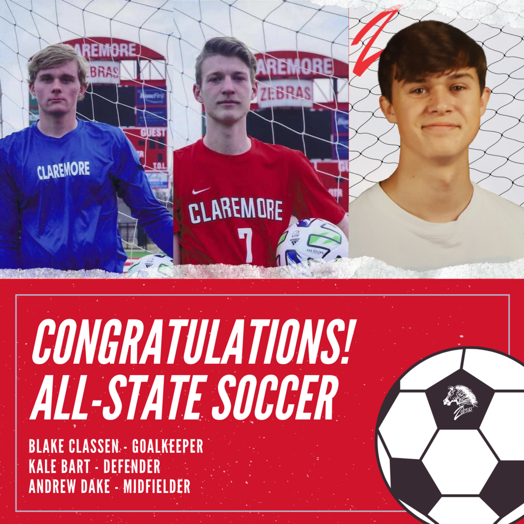 The following have been selected to the Oklahoma Soccer Coaches Association All State Team!