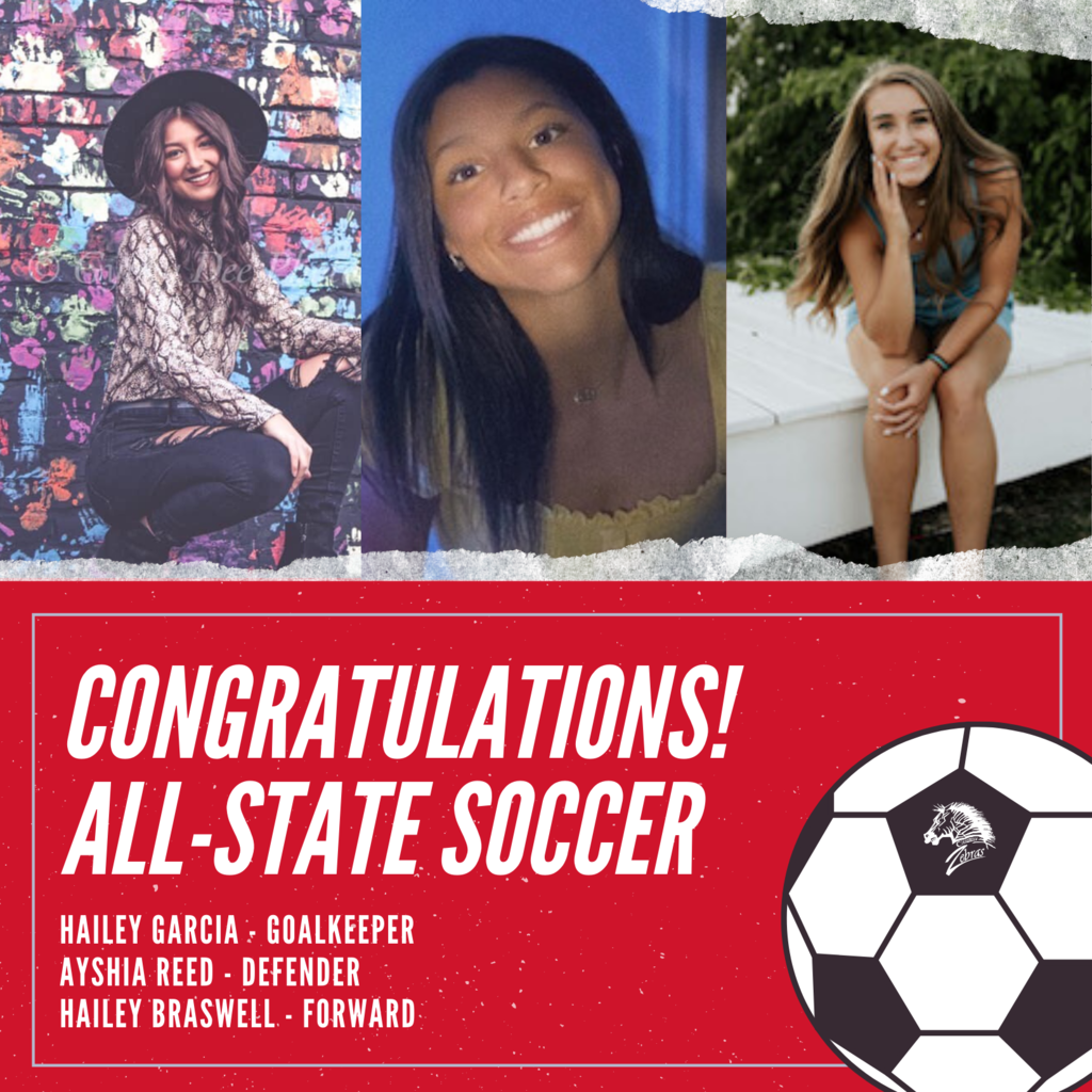 The following have been selected to the Oklahoma Soccer Coaches Association All State Team!   ⚽  Ayshia Reed - Defender ⚽  Hailey Braswell - Forward ⚽  Hailey Garcia - Goalkeeper  #CPSZEBRAPRIDE