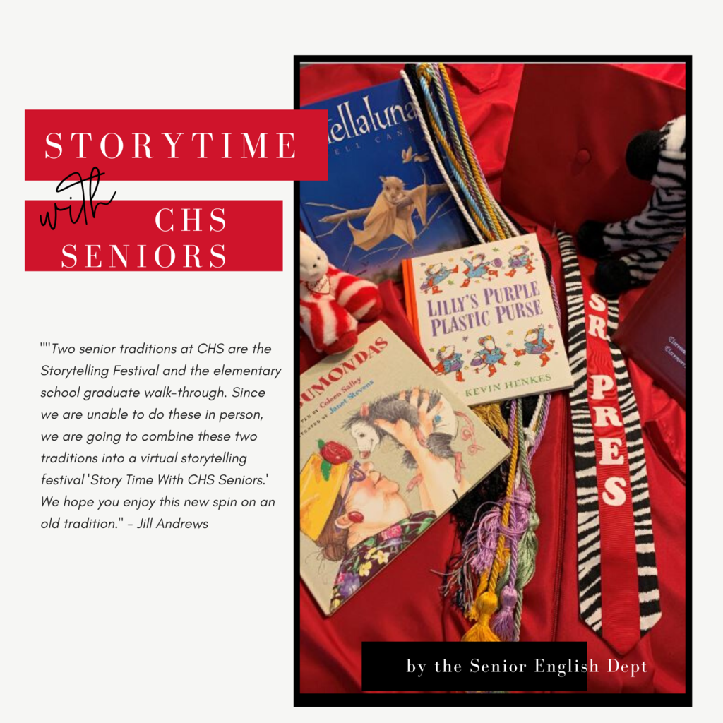 Story Time With CHS Senior Barb Bacon  from Claremont & Catalayah  reading Stick & Stone