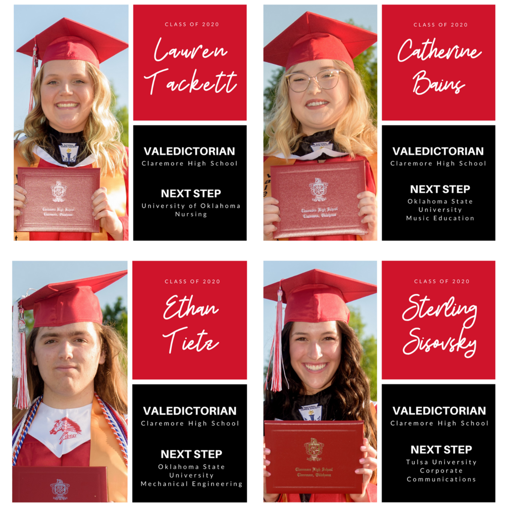 "CPS Communications, publishing on 05/14/2020 at 08:00PM CHS Valedictorians countdown to the last day of school. 8 Days 🎓 Lauren Tacket 🎓 Caatherine ""Katie"" Bains 🎓 Ethan Tietz 🎓 Sterling Sisovsky"