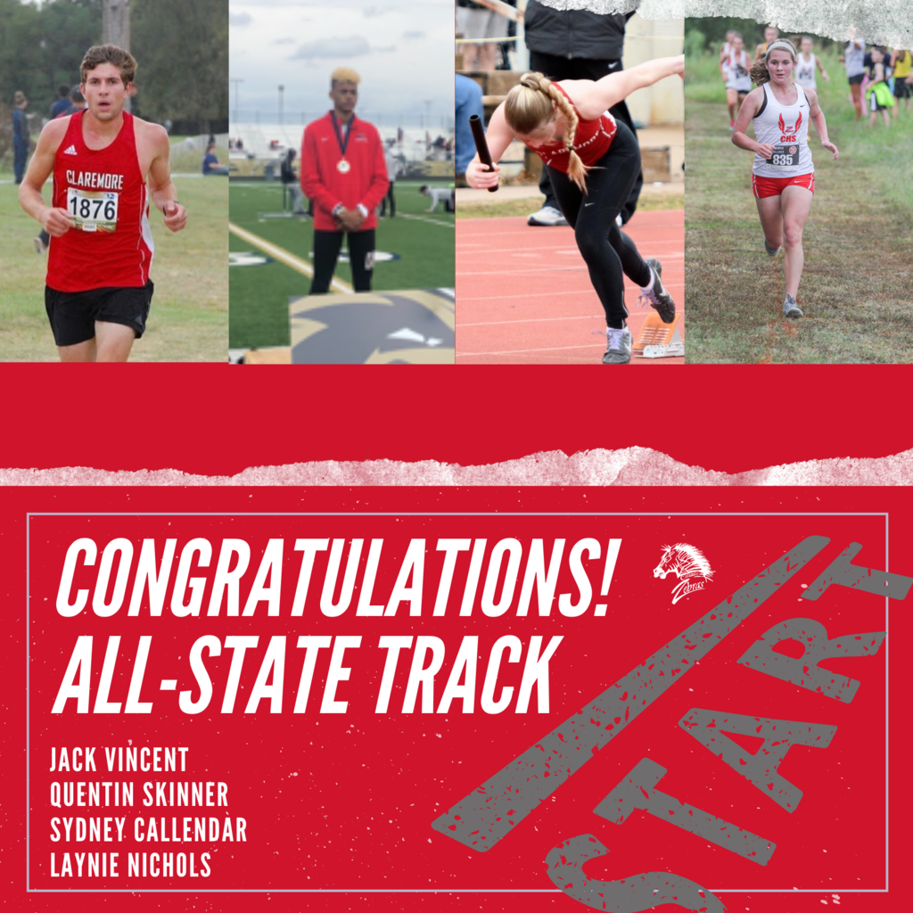 COVID-19 didn't stop 4 of our student-athletes from making the All-State Track Team!    Congratulations 🏃  Jack Vincent 🏃  Quentin Skinner 🏃  Sydney Callendar 🏃  Laynie Nichols