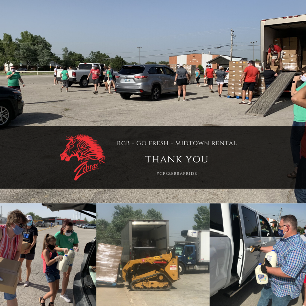 Last week CPS distributed 1200 boxes of food in cooperation with RCB and Go Fresh.  Obviously this could not have been accomplished without the volunteers.  Thank you to the 40 RCB & CPS employees that showed up to meet our families with a smile (even if you could not see it under the masks), who waved, packed the boxes into cars and served our community.
