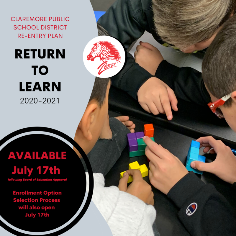 "CPS re-entry plan ""RETURN TO LEARN"" will be available on our website and mobile app, THIS FRIDAY, July 17th."